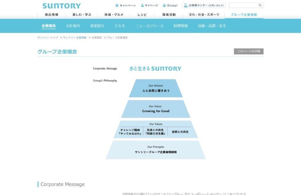 11_グループ企業理念 企業理念 サントリー企業情報
